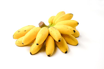 Bananas isolated on the white background