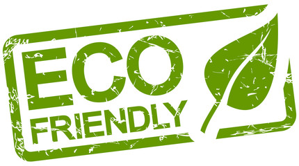green stamp with text ECO friendly Wall mural