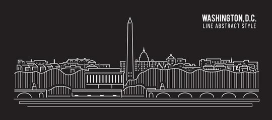 Cityscape Building Line art Vector Illustration design - Washington , D.C. city Fototapete