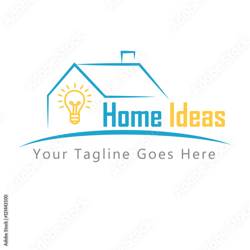 Home Ideas Concept Logo Design Stock Image And Royalty Free Vector