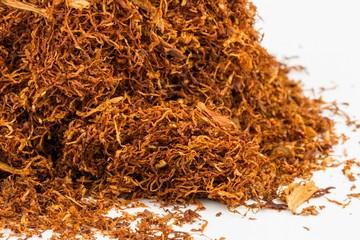 Dry tobacco - Stock image, macro shot.