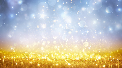 Christmas Shining - Shimmer Of Golden Glitter In Heavenly Sky
