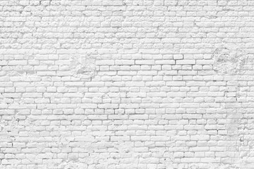 Vintage white brick wall