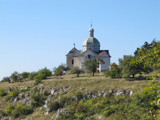 Holy Hill near Mikulov in Moravia / Holy Hill near Mikulov in Summer Time