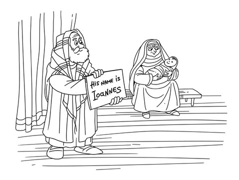 Zechariah gives the name of his son John