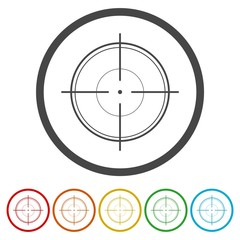 Collection of vector targets isolated on white background