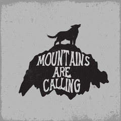 Wolf howling on mountain