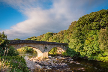 Eals Bridge over River South Tyne, is grade 2 listed, and is a two-arched stone road bridge, mid way between Alston and Haltwhistle in Northumberland