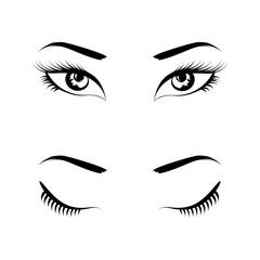 eyes black set vector