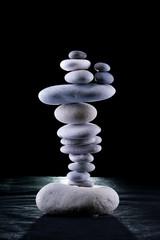 balancing pebble tower