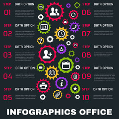 Vector Templates .  Background for Business.  Posters and Placards. Mobile Technologies Concept. Flat Style Web and Infographic. organize, office, work tools