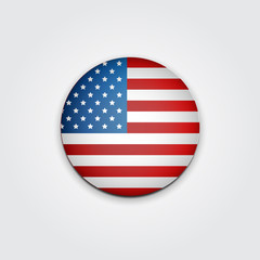 Badge Vote. US presidential election