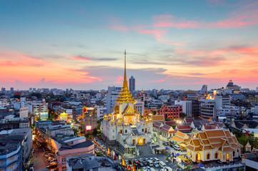 Wat Traimit Witthayaram Worawihan,Temple of the Golden Buddha in Bangkok, Thailand