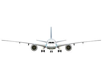 飛行機 正面のイラスト