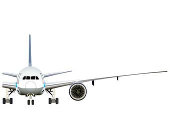 飛行機 正面半分のイラスト