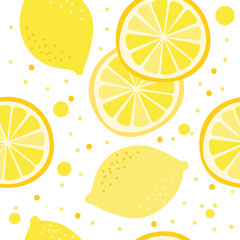 Vector pattern with lemons