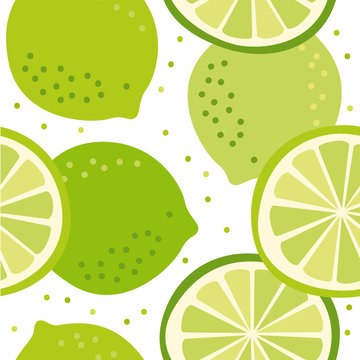 Vector pattern with lime
