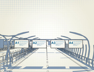 architectural drawing autobahn long way