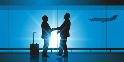 Aéroport - Hommes d'affaires