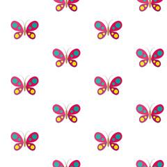 Butterfly. Vector seamless pattern