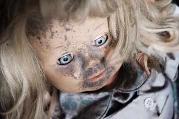 dirty scary doll