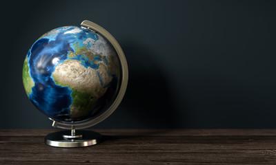 3d Erdkugel als Globus zur Demonstrationszwecken bei Geographie
