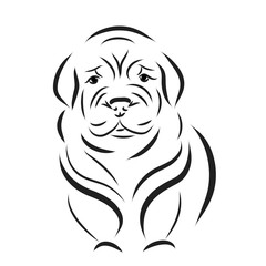 Vector dog logo.