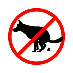 Prohibition sign paddock animals
