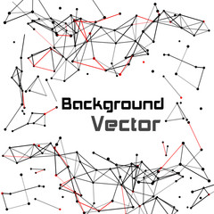 Wireframe mesh dot and lines background