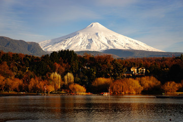 Volcan Villarica from Pucon, Chile