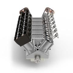 3d generic automotive engine assembly