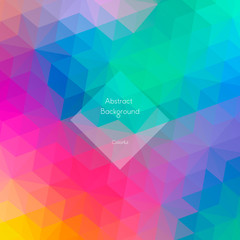 Background of geometric shapes. Triangle colorful pattern. Vector illustration. background with place for your text