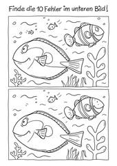 Ausmalbild Fische