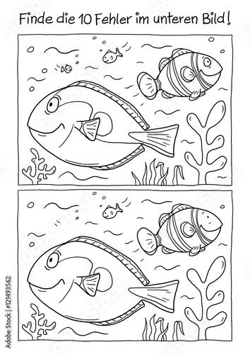 Ausmalbild Fische\