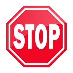 Stop Schild Rot Simpel