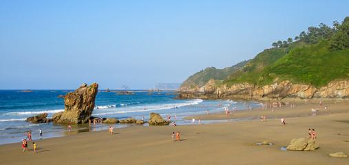 Playa de Aguillar near Muros de Nalon, Asturias, northern Spain
