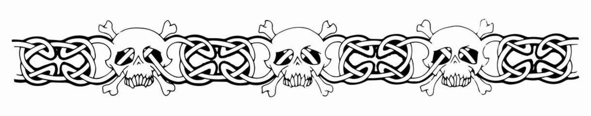 Celtic arm skull tattoo
