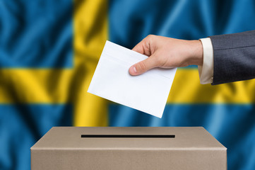 Election in Sweden - voting at the ballot box