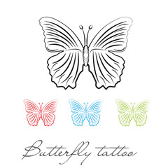 silhouette butterfly for tattoo or logo