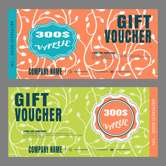 Blank of gift voucher vector illustration for promotion.