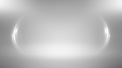 Background empty wall with light frame. Space for your text and picture. Blank trade show booth