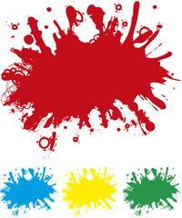 Splash in 4 Farben