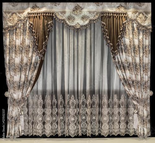 """Floral Gardinen Und Pelmet Am: """"Luxurious Interior Design. Bilateral Curtains With Floral"""