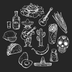 Icons of mexican food and culture
