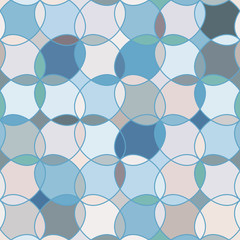 Seamless pattern with stained glass ornament