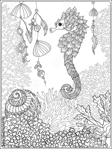 Coral Reef Collection Anti Stress Coloring Book For Adult And