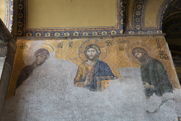 Mosaic Image at Hagia Sophia