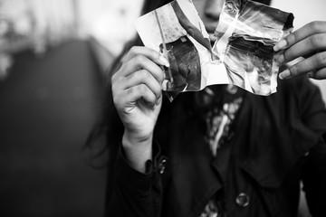 Girl Heartbroken Rip Photo Concept