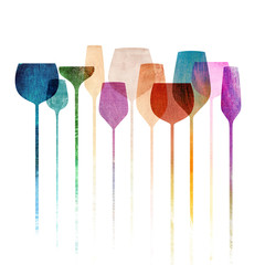 Paper textured party glasses