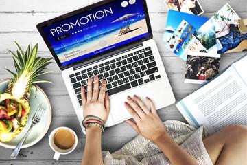 Promotion Advertisement Announcement Commerce Concept